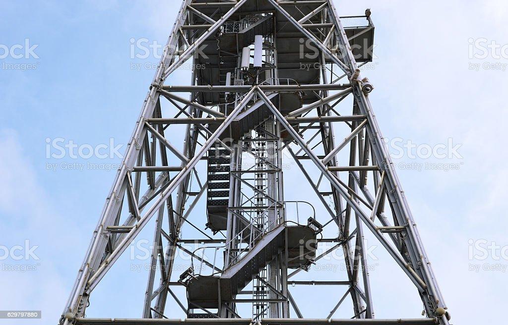 Parachute tower stock photo