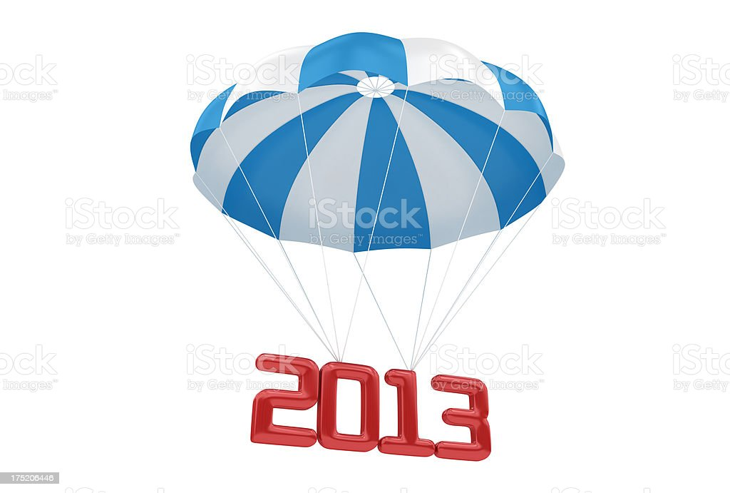 Parachute with 2013 royalty-free stock photo