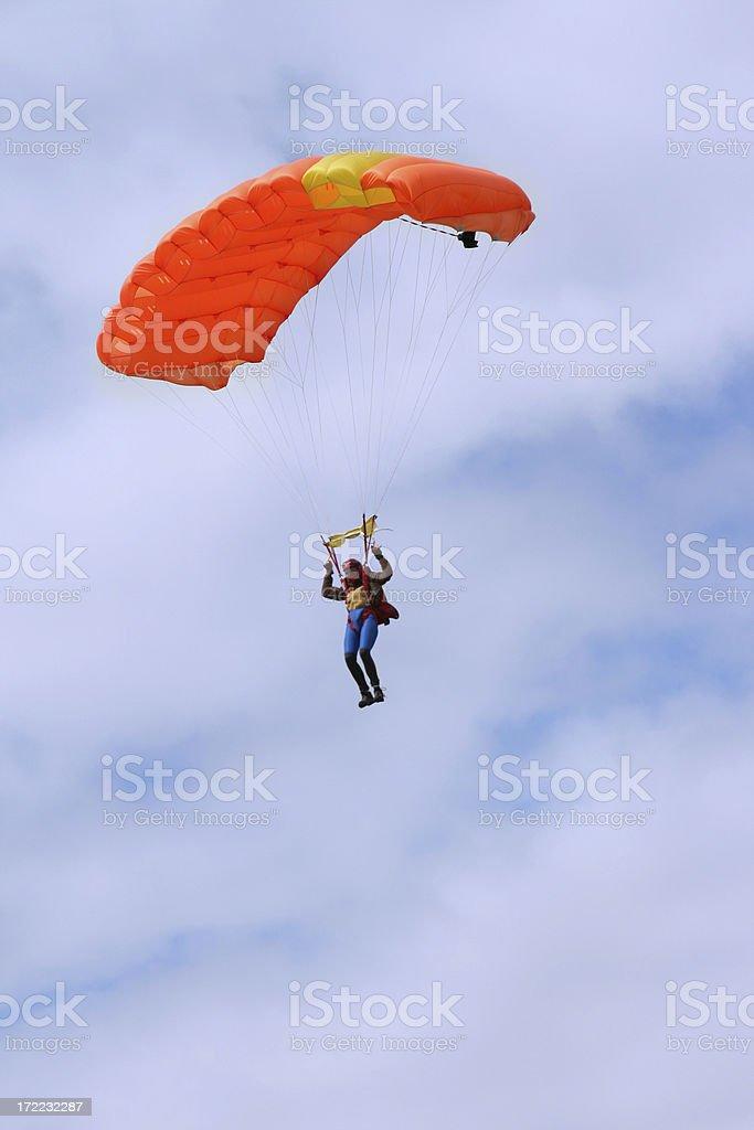 parachuter royalty-free stock photo
