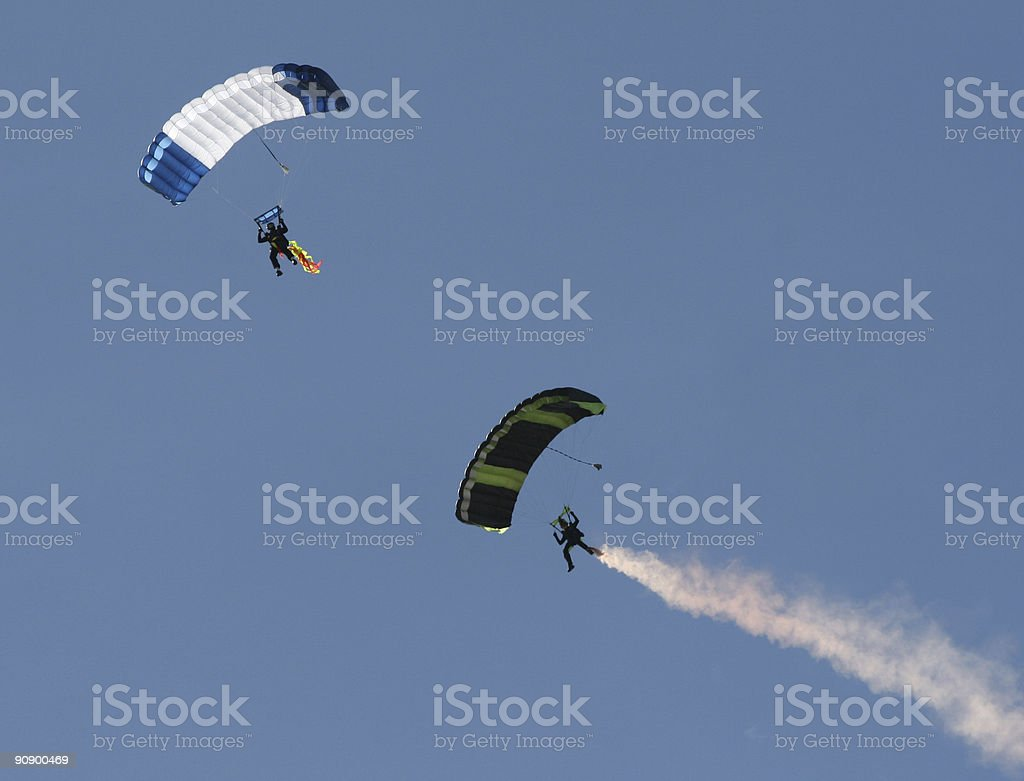parachuting sport paragliders stock photo