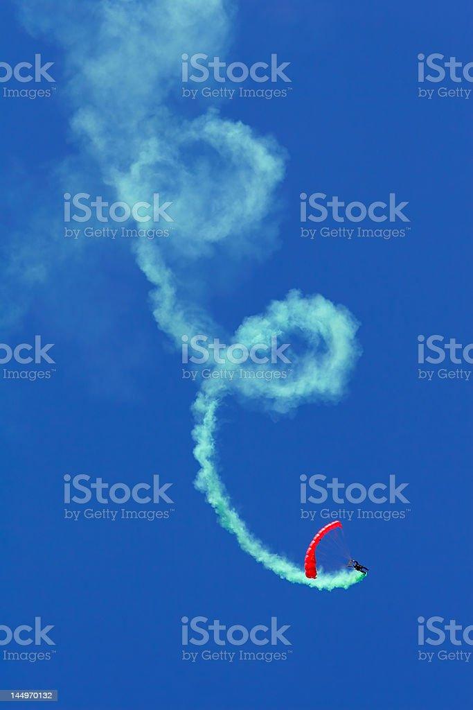 Parachutist aerobatics royalty-free stock photo