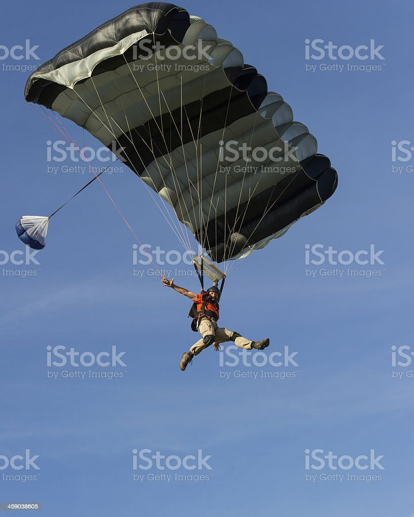 Parachutist flyby royalty-free stock photo