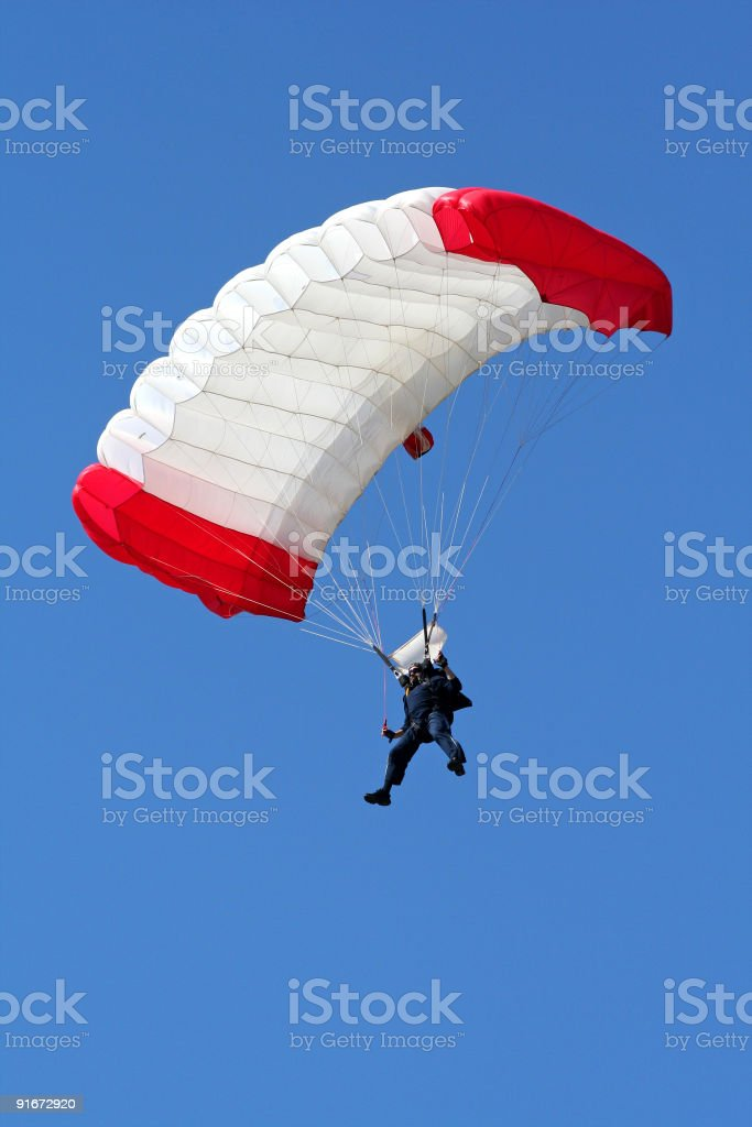 Parachutist in air royalty-free stock photo