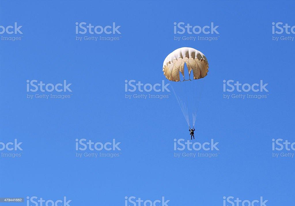 Parachutist Jumper stock photo