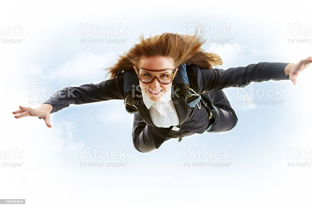 Parachutist royalty-free stock photo