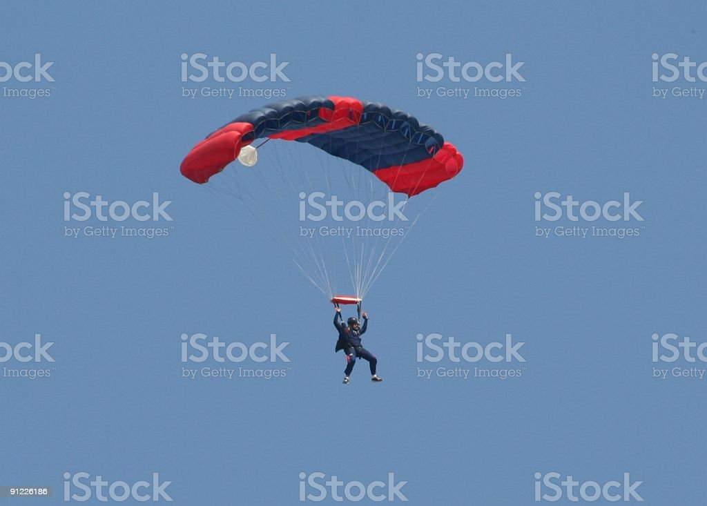 Parachutist royalty-free stock photo