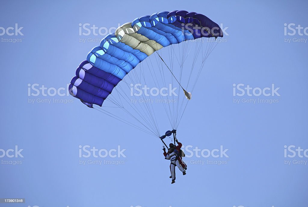 Parachutists in Tandem royalty-free stock photo