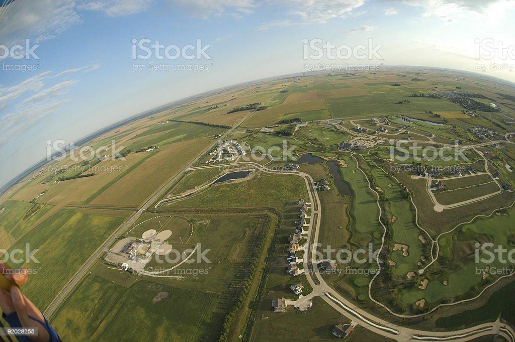 Parachutists Perpective royalty-free stock photo
