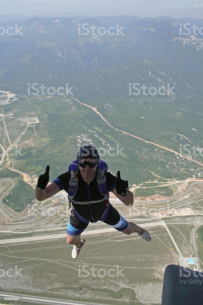 parachutists smile royalty-free stock photo