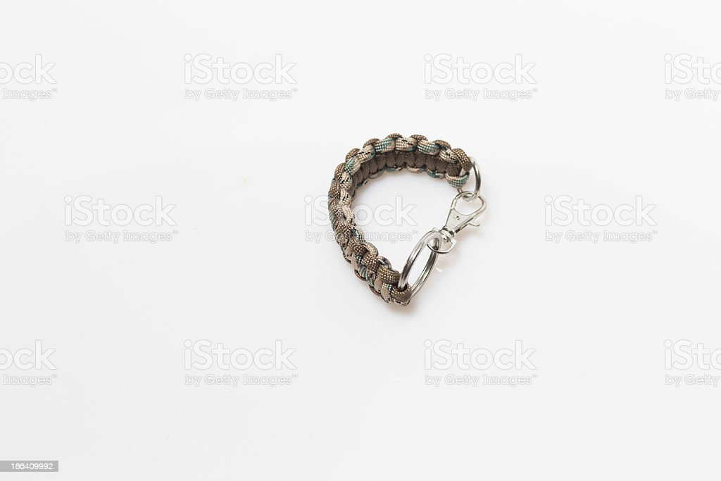 paracord keychain royalty-free stock photo