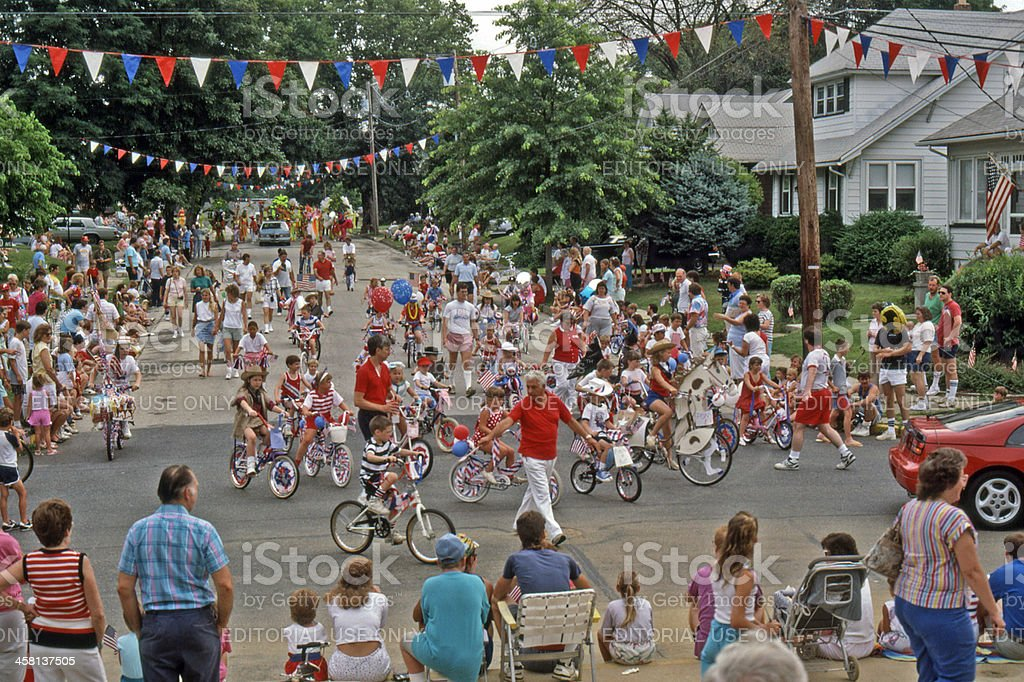 Parade. 4th July. stock photo