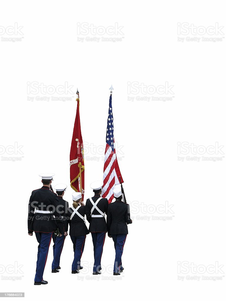 Parade Colorguard royalty-free stock photo
