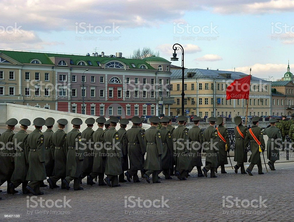 Parade in Moscow stock photo