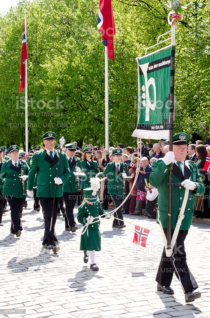 Parade in Oslo on 17th may stock photo