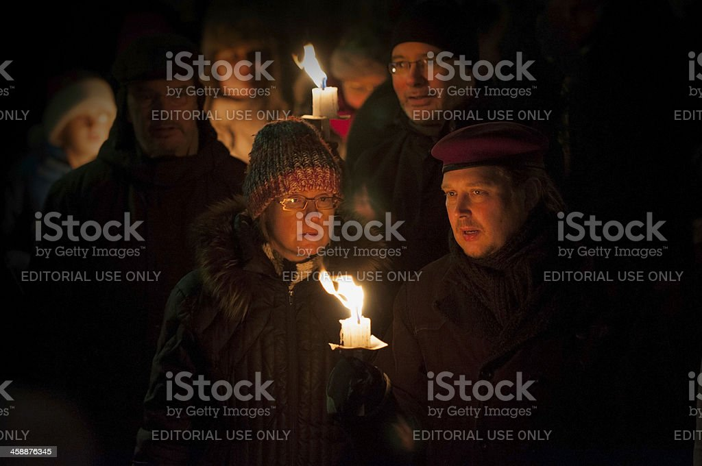 Parade of Light in Iceland royalty-free stock photo