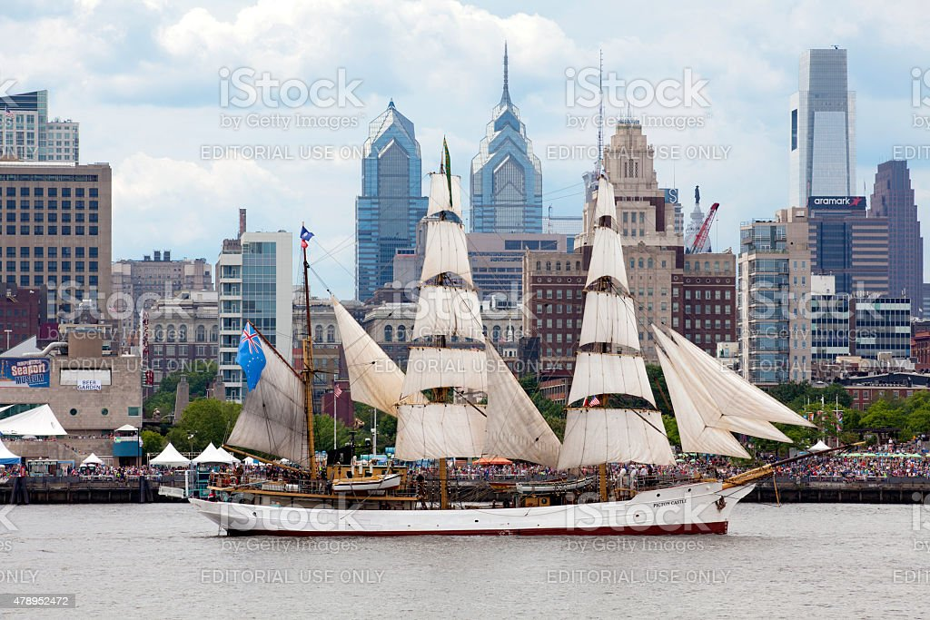 Parade of Sails in Philadelphia, Pennsylvania stock photo