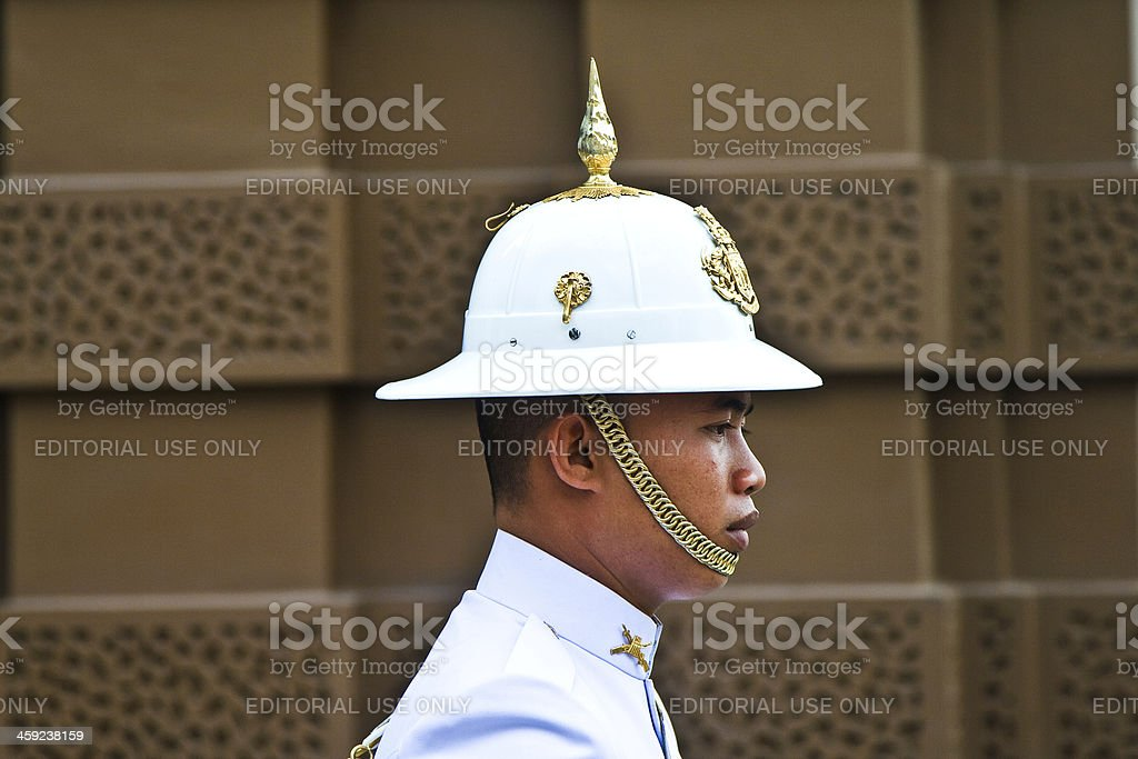 Parade of the kings Guards in Grand Palace royalty-free stock photo