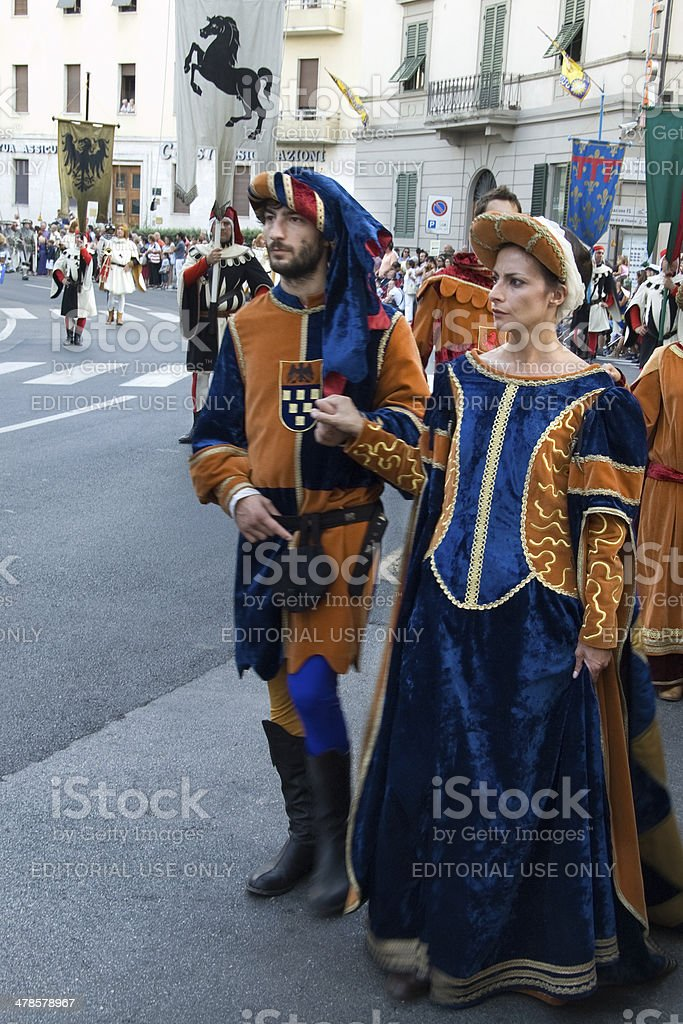 Parade of the Palio in Arezzo, Italy royalty-free stock photo