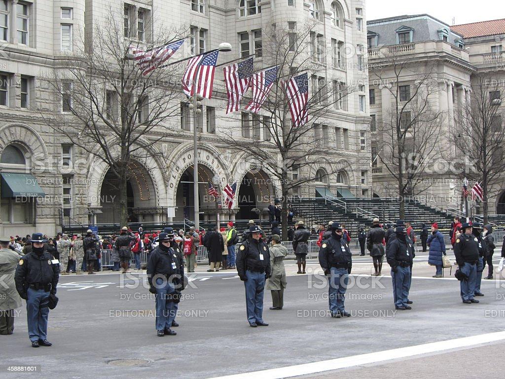 Parade Security stock photo