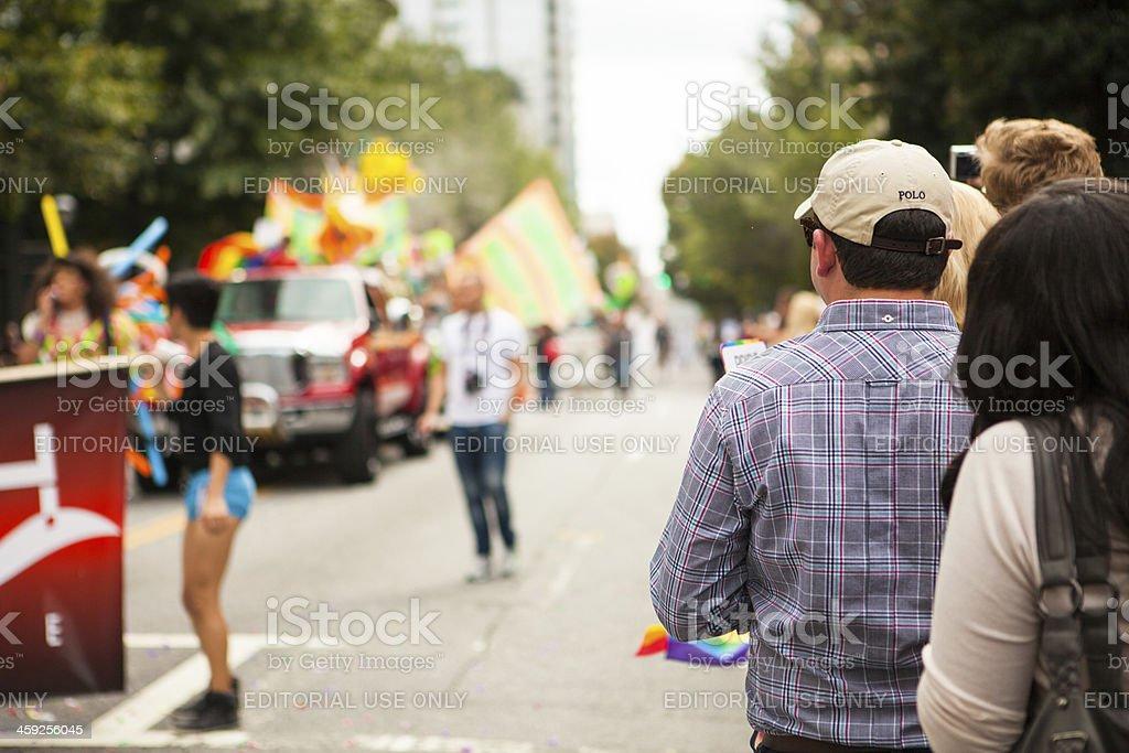 Parade Spectators royalty-free stock photo