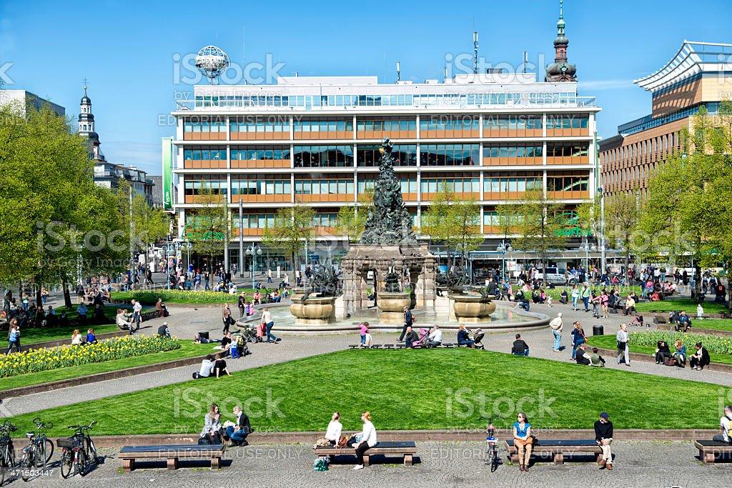 Paradeplatz and Grupello Pyramid royalty-free stock photo