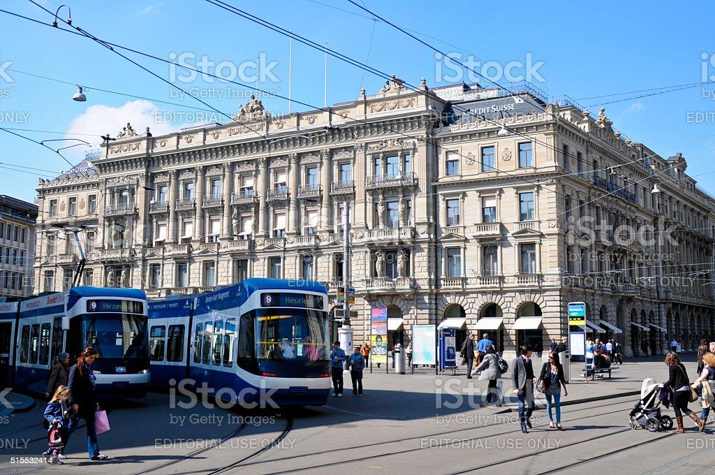Paradeplatz Zurich stock photo