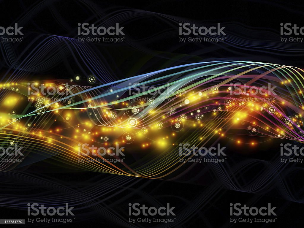 Paradigm of Dynamic Network royalty-free stock photo