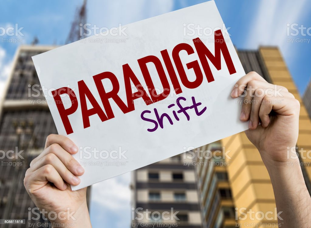 Paradigm Shift stock photo