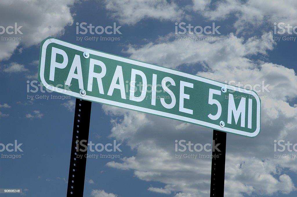 Paradise 5 Miles royalty-free stock photo
