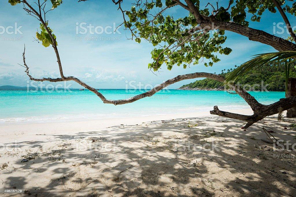 Paradise asian beach stock photo