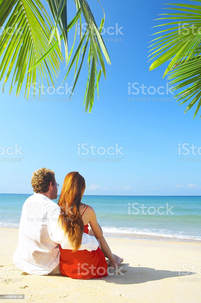 paradise backs royalty-free stock photo