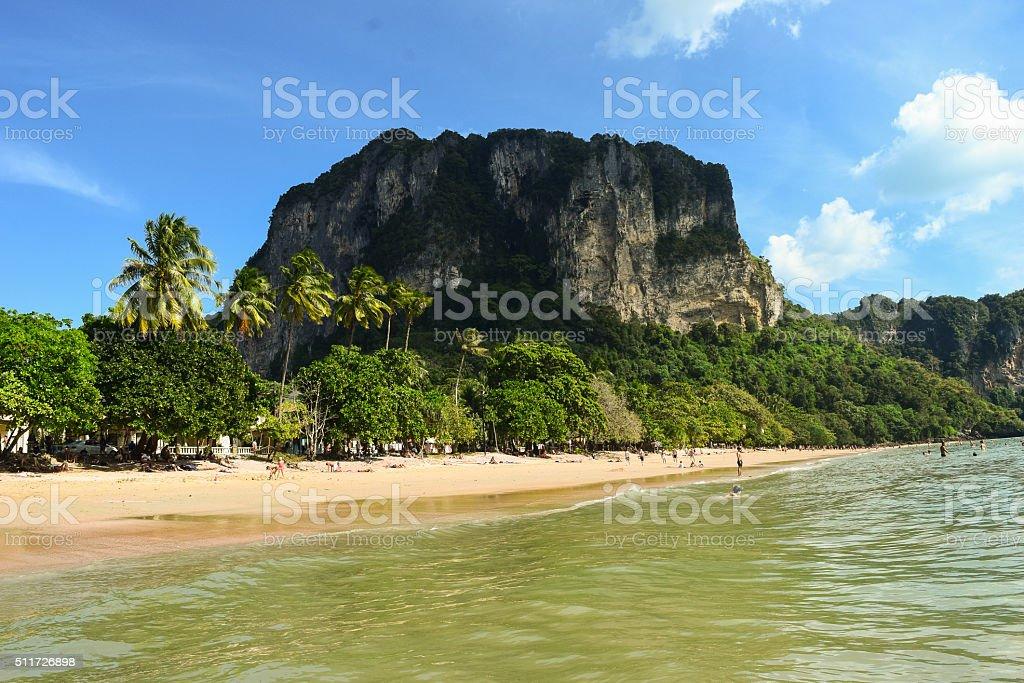 Paradise beach Ao Nang in Thailand stock photo