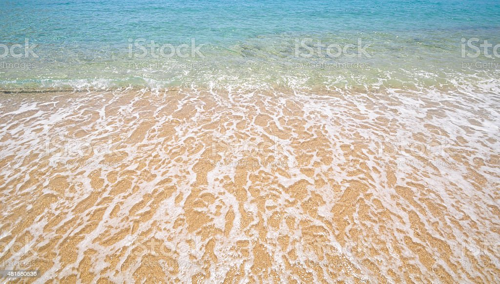 Paradise Beach at Mykonos, Greece stock photo