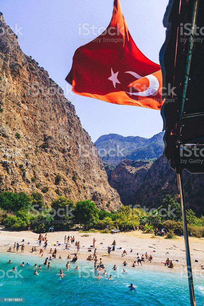 Paradise Beach - Butterfly Valley, Fethiye stock photo