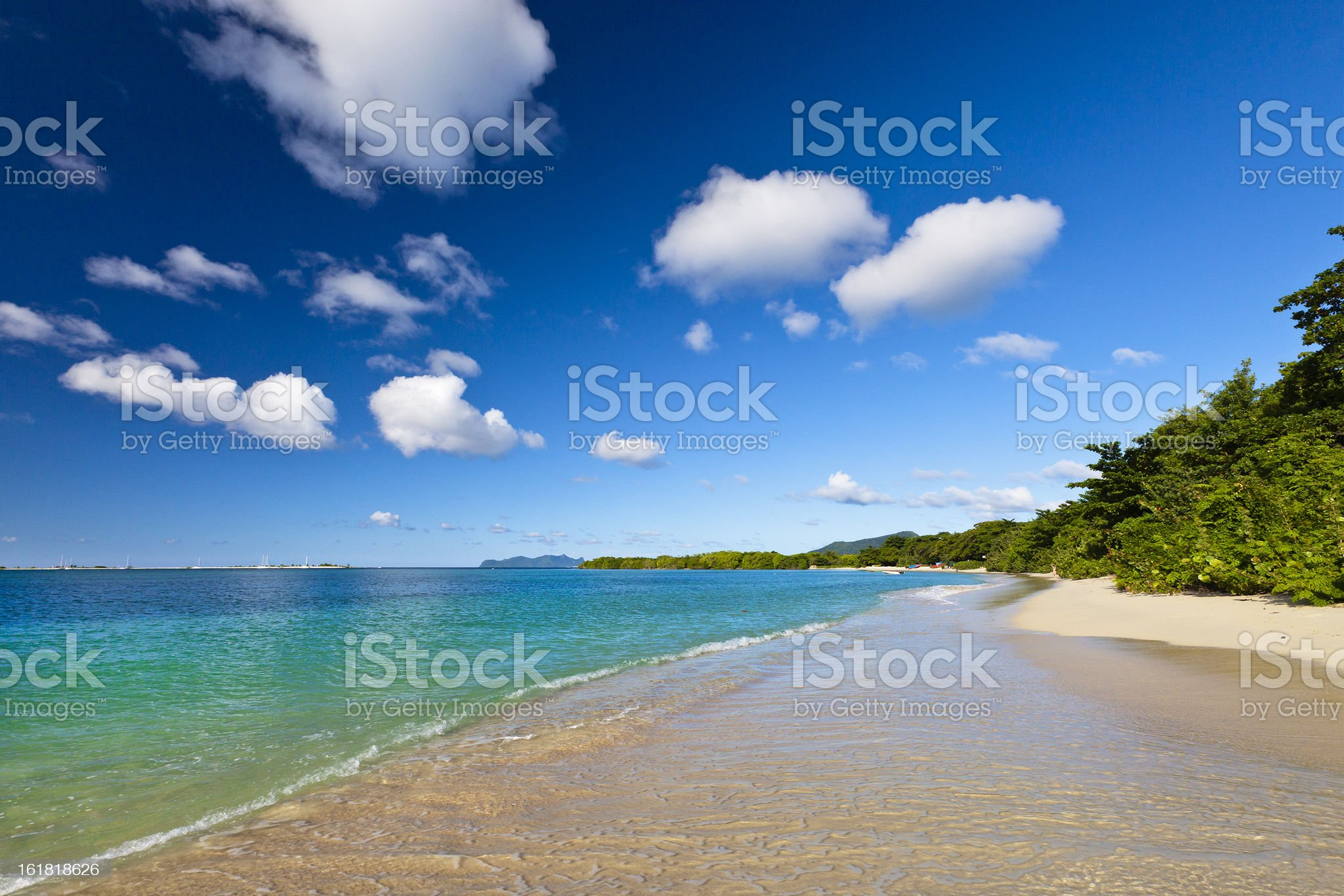 Paradise Beach, Grenada royalty-free stock photo