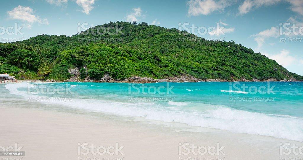 Paradise beach in Thailand stock photo