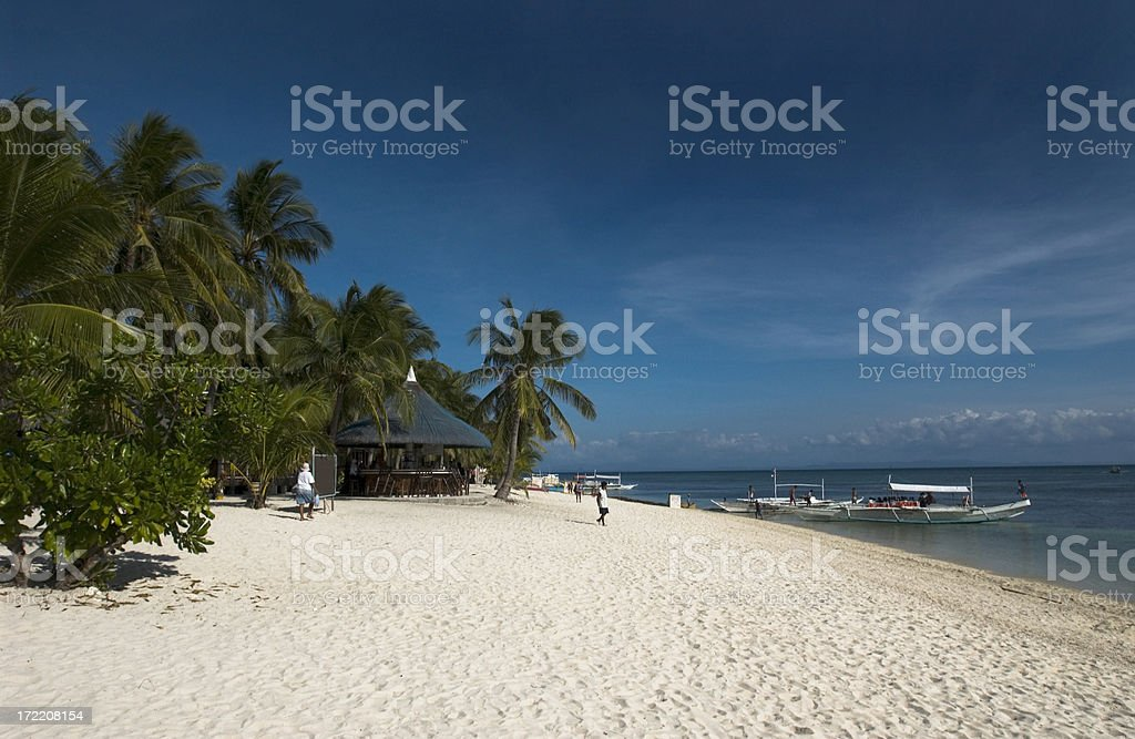 Paradise Beach Malapascua Philippines stock photo