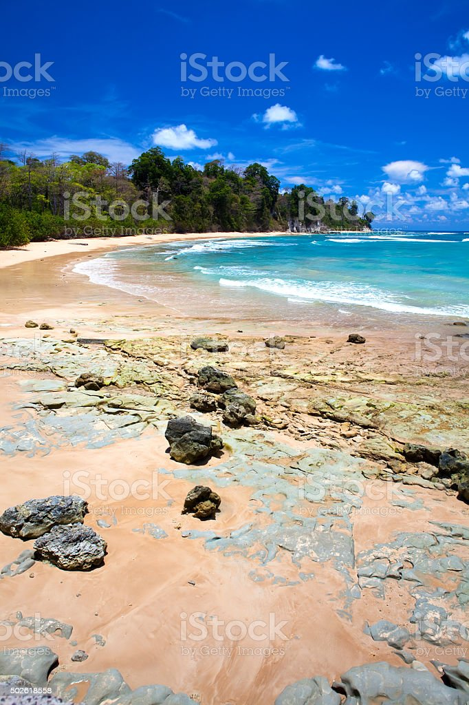 Paradise beach, Neil Island stock photo