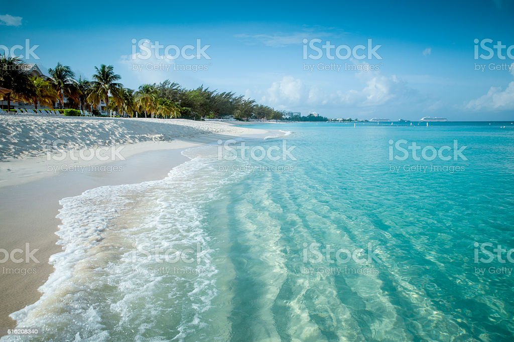 Paradise beach on a tropical island stock photo