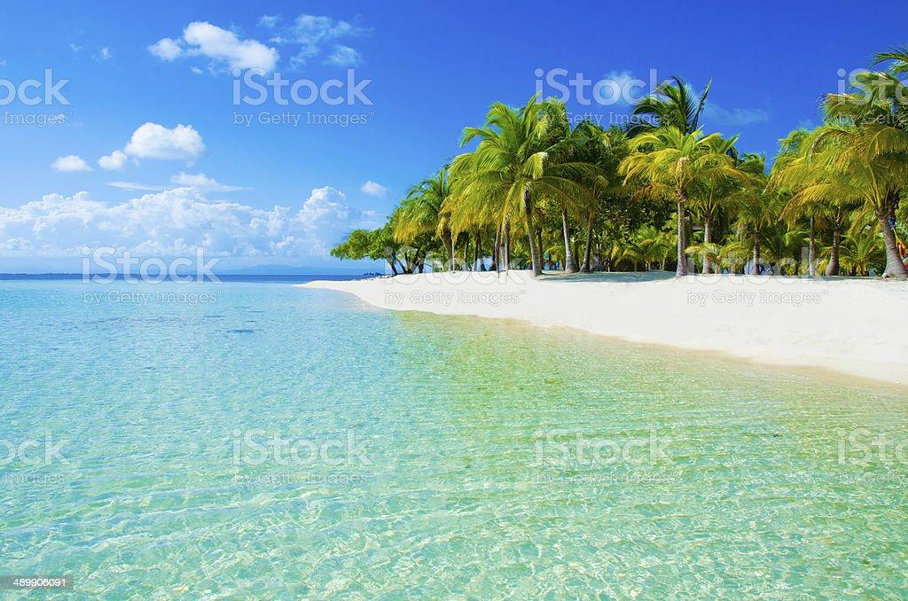 Paradise Beach on beautiful island stock photo