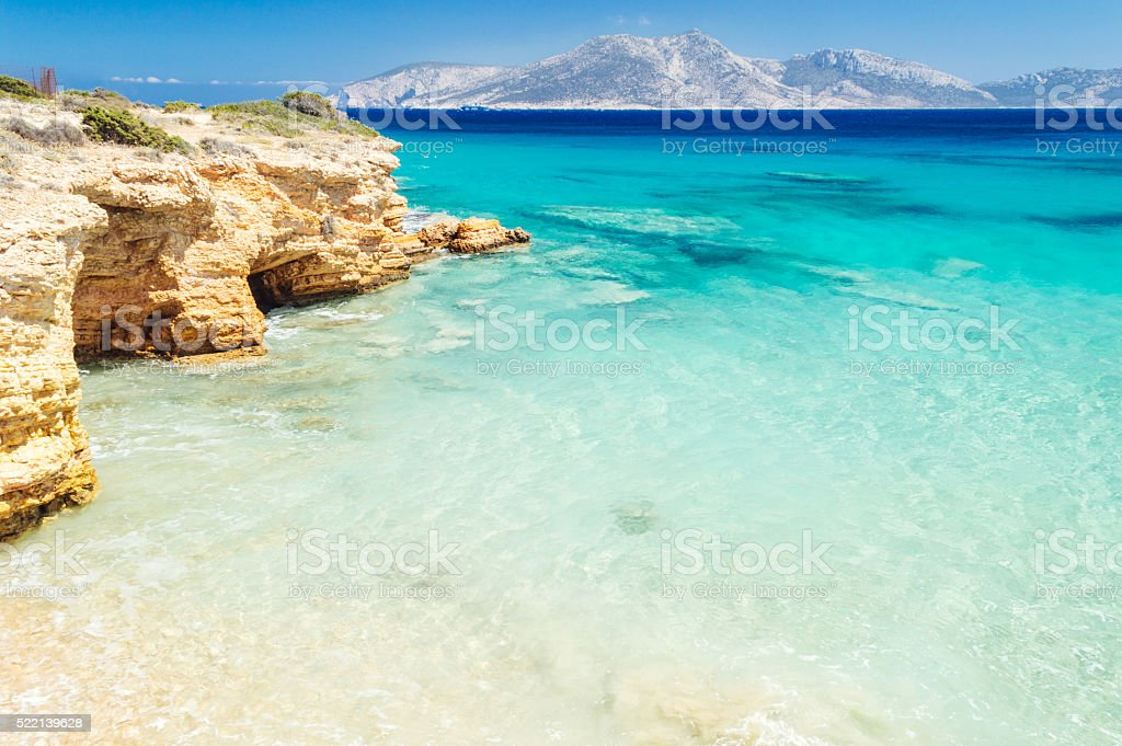 Paradise beach on Koufonisia stock photo