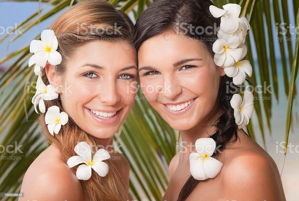 Paradise Beauties - Flower Heart royalty-free stock photo