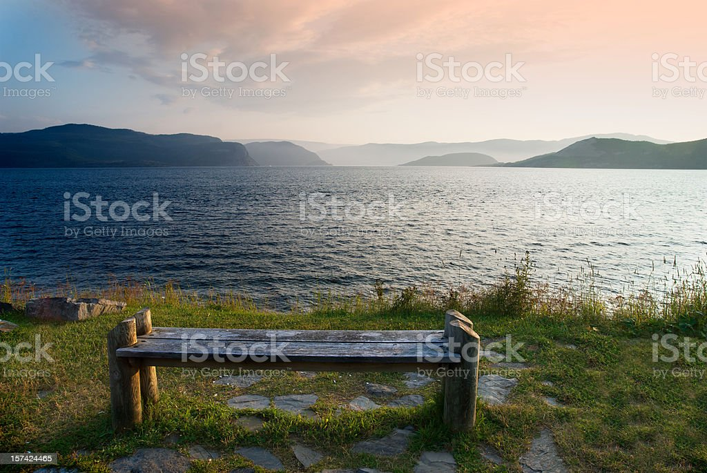 Paradise Bench stock photo