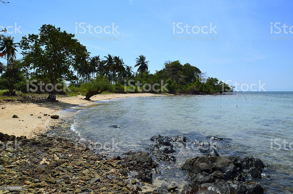 Paradise Cambodian beach at Rabbit Island stock photo