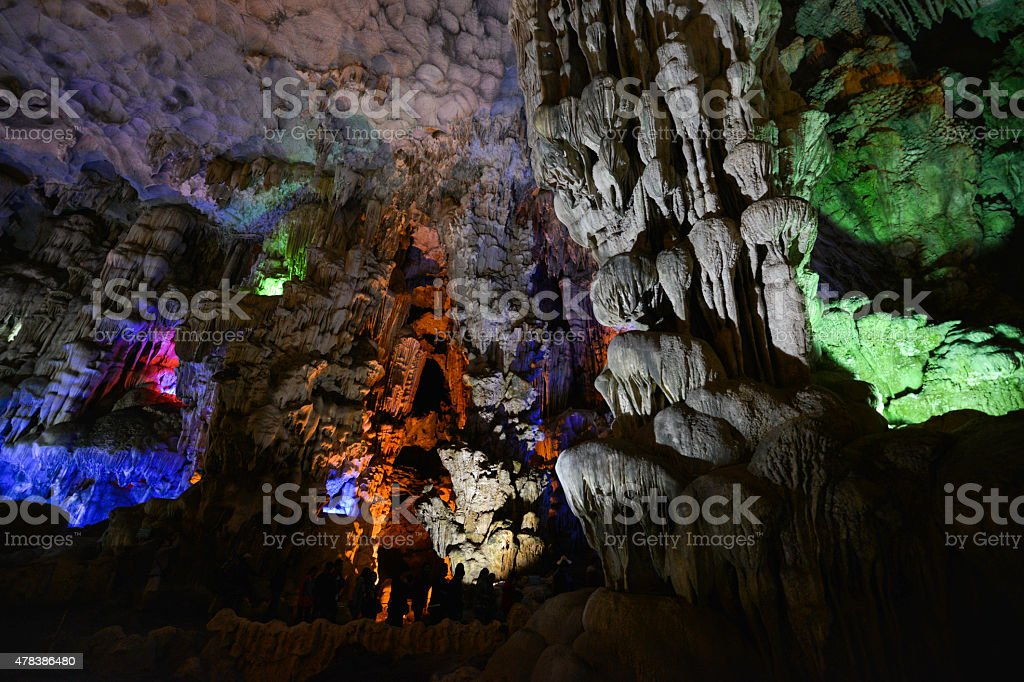 Paradise cave at Vietnam royalty-free stock photo