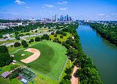 Paradise cityscape aerial baseball field capital cities