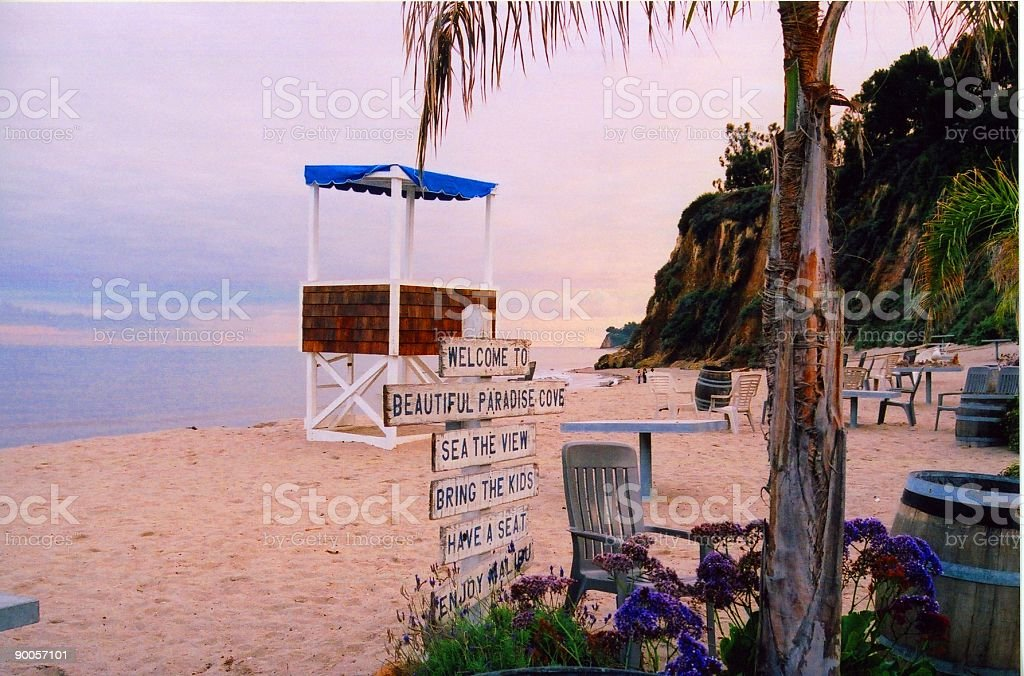 Paradise Cove stock photo