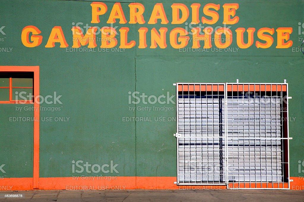 Paradise Gambling House, Namibia stock photo
