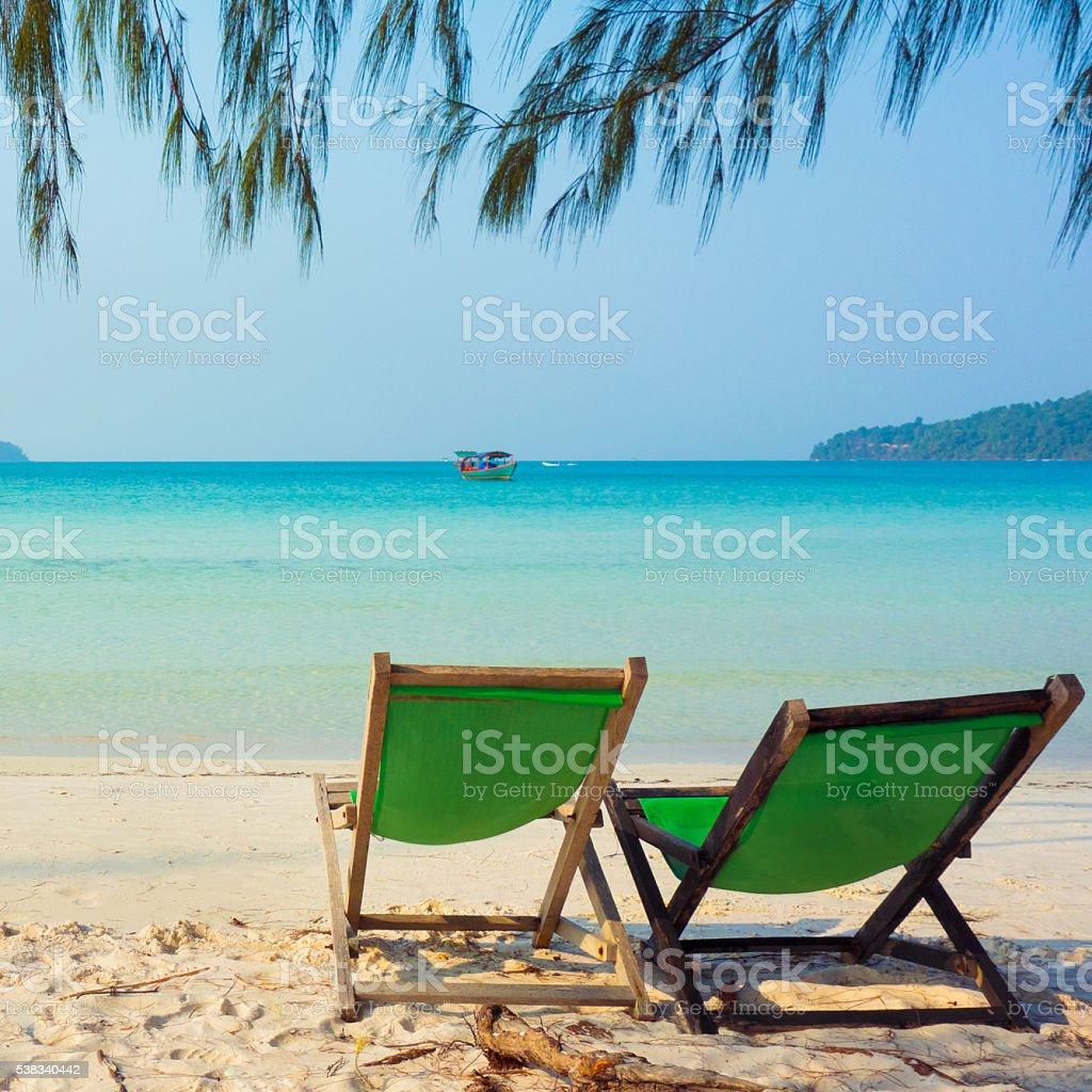 Paradise - idyllic beach stock photo
