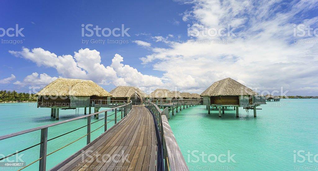 Paradise in Bora Bora stock photo